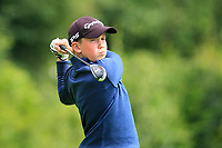 Ross Clifford (Co.Sligo) on the 1st tee during the Connacht U12, U14, U16, U18 Close Finals 2019 in Mountbellew Golf Club, Mountbellew, Co. Galway on Monday 12th August 2019.<br /> <br /> Picture:  Thos Caffrey / www.golffile.ie<br /> <br /> All photos usage must carry mandatory copyright credit (© Golffile | Thos Caffrey)