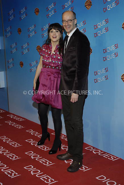 MADRID, SPAIN -.Actress Zooey Deschanel (L) and film director Peyton Reed attend the premiere of 'Yes Man' at Capitol Cinema December 11, 2008 in Madrid, Spain.(C) GWYNPLAINE - ASTUFOTO