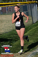 Owensville sophomore Hannah Baehr, an all-stater as a freshman, runs to a 2nd place finish in the Class 3 District 2 race in Chesterfield, MO, Saturday, October 27.