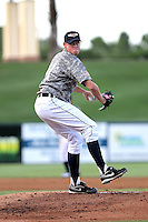 May 15, 2010  Starting Pitcher Charles Furbush of the Lakeland Flying Tigers delivers a pitch during a game vs. the Tampa Yankees at Joker Marchant Stadium in Lakeland, Florida. Lakeland wore camouflage jerseys for Military Night. Photo By Mark LoMoglio/Four Seam Images