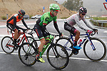 Part of the breakaway group Simon Clarke (AUS) Cannondale Drapac, Aldemar Reyes Ortega (COL) Manzana Postobon and Alessandro De Marchi (ITA) BMC during Stage 11 of the 2017 La Vuelta, running 187.5km from Lorca to Observatorio Astron&oacute;mico de Calar Alto, Spain. 30th August 2017.<br /> Picture: Unipublic/&copy;photogomezsport | Cyclefile<br /> <br /> <br /> All photos usage must carry mandatory copyright credit (&copy; Cyclefile | Unipublic/&copy;photogomezsport)