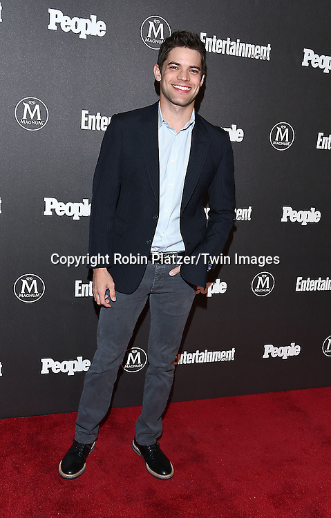 Jeremy Jordan attends the Entertainment Weekly &amp; PEOPLE Magazine New York Upfronts Celebration on May 16, 2016 at Cedar Lake in New York, New York, USA.<br /> <br /> photo by Robin Platzer/Twin Images<br />  <br /> phone number 212-935-0770