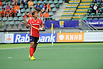 The Hague, Netherlands, June 10: Jonghyun Jang #25 of Korea looks on during the field hockey group match (Men - Group B) between Germany and Korea on June 10, 2014 during the World Cup 2014 at Kyocera Stadium in The Hague, Netherlands. Final score 6-1 (3-0) (Photo by Dirk Markgraf / www.265-images.com) *** Local caption ***