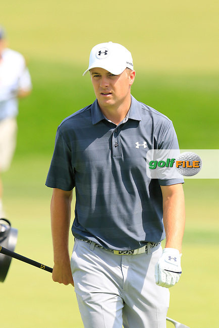 Jordan Spieth (USA) on the 18th green during Wednesday's Practice Day of the 2016 U.S. Open Championship held at Oakmont Country Club, Oakmont, Pittsburgh, Pennsylvania, United States of America. 15th June 2016.<br /> Picture: Eoin Clarke | Golffile<br /> <br /> <br /> All photos usage must carry mandatory copyright credit (&copy; Golffile | Eoin Clarke)
