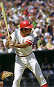 CIRCA 1973:  Johnny Bench #5, of the Cincinnati Reds, at bat during  a game from his 1973 season.  Johnny Bench played for 17 seasons, all with the Cincinnati Reds. Johnny Bench was a 14 -time All-Star, 2-time National League MVP and was inducted to the Baseball Hall of Fame in 1989. (Photo by: 1973 SportPics 2018)  *** Local Caption *** Johnny Bench