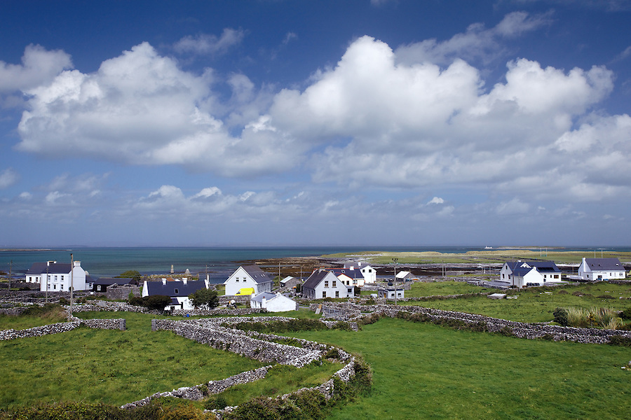 The village of Killeany on the island of Inishmore, Aran Islands, County Galway, Republic of Ireland