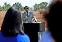 Jun. 16, 2009; Casa Grande, AZ, USA; United Football League commissioner Michael Huyghue speaks during the groundbreaking of the Casa Grande Training Facility & Performance Institute in Casa Grande.  Mandatory Credit: Mark J. Rebilas-