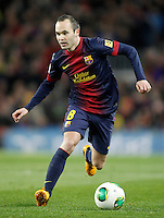 FC Barcelona's Andres Iniesta during Copa del Rey - King's Cup semifinal second match.February 26,2013. (ALTERPHOTOS/Acero) /Nortephoto