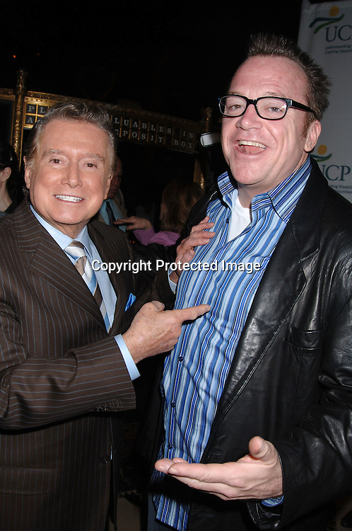 Regis Philbin and Tom Arnold ..at The 5th Annual Women Who Care Luncheon benefitting ..United Cerebral Palsy of New York City on May 4, 2006 ..at Cipriani 42nd Street...Robin Platzer, Twin Images
