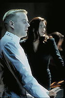 Dark City (1998)<br /> Kiefer Sutherland &amp; Jennifer Connelly<br /> *Filmstill - Editorial Use Only*<br /> CAP/KFS<br /> Image supplied by Capital Pictures