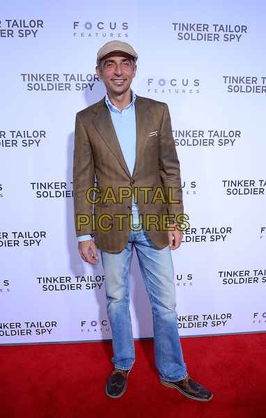 Shaun Toub.The premiere of Focus Features' 'Tinker, Tailor, Soldier, Spy' held at Arclight Cinema's Cinerama Dome, Los Angeles, California, USA..December 6th, 2011.full length jeans denim blue shirt brown jacket hat.CAP/ADM/TW.©Tonya Wise/AdMedia/Capital Pictures.