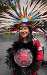Mexico, Mexico City, Aztec Dancer, Headdress, Penachos, Danza Azteca