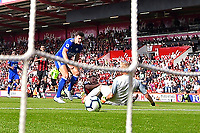 Ryan Fraser of AFC Bournemouth scores the second goal during AFC Bournemouth vs Leicester City, Premier League Football at the Vitality Stadium on 15th September 2018