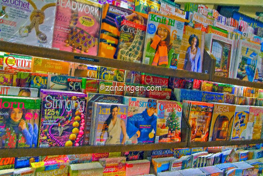 Book Store Magazine Rack Display, Digital oil painted texture,  Beautiful, Unique