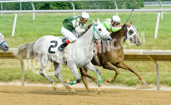 Langley winning at Delaware Park on 7/9/12