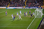 Crystal Palace 1 Huddersfield Town 1, 22/12/2012. Selhurst Park, Championship. Promotion chasing Crystal Palace aim to halt a poor run of form against lowly Huddersfield. Wilfried Zaha's ferocious strike gives the hosts the lead. Photo by Simon Gill.