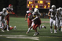 September 14, 2018:  Game action from the Bridgewater-Raynham vs Xaverian Brothers  varsity football game played at Bridgewater-Raynham High School in Bridgewater MA. Eric Canha/BridgewaterSports.com
