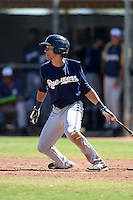 Milwaukee Brewers outfielder Joantgel Segovia (83) during an Instructional League game against the Seattle Mariners on October 4, 2014 at Peoria Stadium Training Complex in Peoria, Arizona.  (Mike Janes/Four Seam Images)