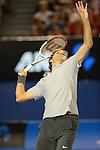 Roger Federer (SUI) moves on  at Australian Open in Melbourne Australia on 17th January 2013