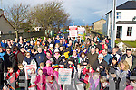 PROTEST; A large gathering in Fenit to take part in the protest march on Sunday afternoon over fencing off the walk in Fenit................. . ............................... ..........