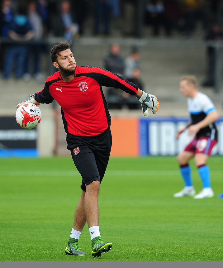 Fleetwood Town&rsquo;s Alex Gogic during the pre-match warm-up <br /> <br /> Photographer Chris Vaughan/CameraSport<br /> <br /> Football - The Football League Sky Bet League One - Scunthorpe United v Fleetwood Town - Saturday 3rd October 2015 - Glanford Park - Scunthorpe<br /> <br /> &copy; CameraSport - 43 Linden Ave. Countesthorpe. Leicester. England. LE8 5PG - Tel: +44 (0) 116 277 4147 - admin@camerasport.com - www.camerasport.com