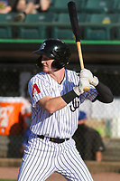 Jackson Generals first baseman Pavin Smith (13) at bat during a Southern League game against the Biloxi Shuckers on June 13, 2019 at The Ballpark at Jackson in Jackson, Tennessee. Jackson defeated Biloxi 5-4. (Brad Krause/Four Seam Images)
