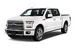 2017 Ford F-150 Limited-SuperCrew 4 Door Pickup Angular Front stock photos of front three quarter view