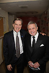 """Guiding Light's Ron Raines """"Alan Spaulding"""" was master of ceremonies and poses with Nick Wyman (Equity President) at """"Union Women at Work: Inspiration In Motion"""" on March 5, 2012 at Theatre at Saint Peter's Church - Home of The York Theatre, New York City, New York which was Sponsored by Actors' Equity Associations Eastern EEO Committee.  The event was an Equity event in celebration of Womens History Month.  (Photo by Sue Coflin/Max Photos)"""