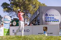 Nino Bertasio (ITA) on the 10th tee during the third round of the Mutuactivos Open de Espana, Club de Campo Villa de Madrid, Madrid, Madrid, Spain. 05/10/2019.<br /> Picture Hugo Alcalde / Golffile.ie<br /> <br /> All photo usage must carry mandatory copyright credit (© Golffile | Hugo Alcalde)