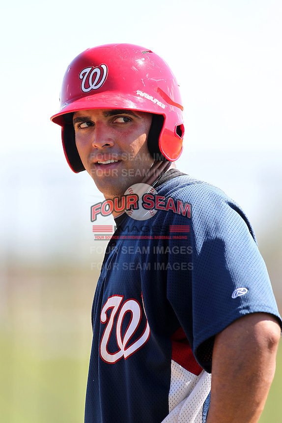 Washington Nationals outfielder Randolph Oduber #31 during practice before an Instructional League game against the national team from Italy at Carl Barger Training Complex on September 28, 2011 in Viera, Florida.  (Mike Janes/Four Seam Images)