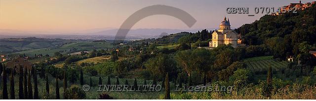 Tom Mackie, LANDSCAPES, panoramic, photos, Madonna di San Biagio Church, Montepulciano, Tuscany, Italy, GBTM070145-2,#L#