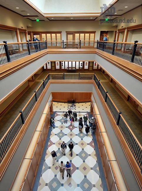 Eck Hall of Law main hallway..Photo by Matt Cashore/University of Notre Dame