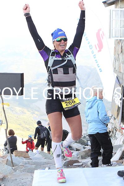 Race number 266 - Sarah Molstad Knudsen  - Norseman Xtreme Tri 2012 - Norway - photo by chris royle/ boxingheaven@gmail.com