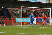 Frustration for Ashley Nadesan of Crawley Town after a missed chance on goal during Crawley Town vs Carlisle United, Sky Bet EFL League 2 Football at Broadfield Stadium on 15th February 2020