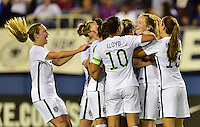 Boca Raton, FL. - March 9, 2016: The U.S. Women's National team go up 2-1 over Germany late in first half action during  the 2016 SheBelieves Cup at FAU Stadium.