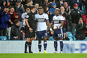 12th September 2017, Villa Park, Birmingham, England; EFL Championship football, Aston Villa versus Middlesbrough; Adama Traoré of Middlesbrough pleads with the referee after receiving a red card