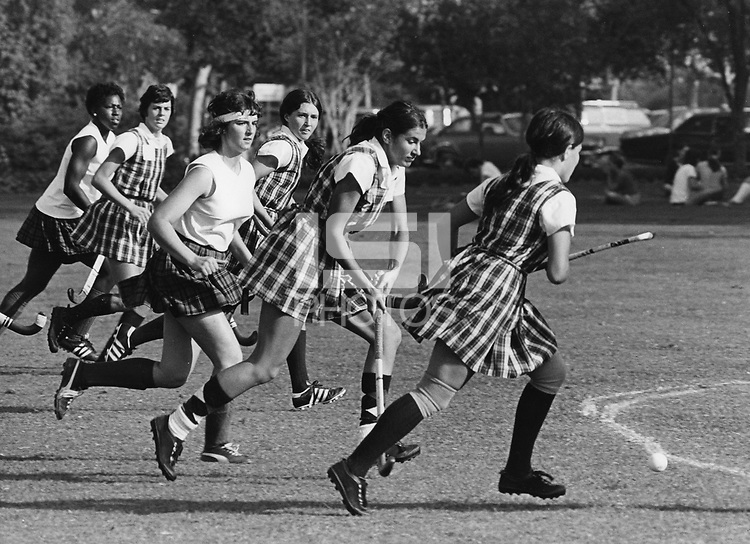 19 October 1973: Marlyn Rath, Liys Stand, Marina Ballantyne, and Kathy Levinson during Stanford game against Hayward in Stanford, CA.