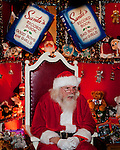 TORRINGTON,  CT-122016JS16--One day during the season, the Signing Santa at Christmas Village in Torrington, would sign for all deaf or hearing-impaired visitors to Christmas Village. <br />  Jim Shannon Republican American
