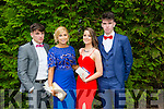 Pupils from St Brendans and St Bridgets were l-r Michéal Burns, Aoife Murphy, Rebecca O'Shea and Michael McCarthy at the Killarney Schools Debs at the Earl of Desmond Hotel on Monday