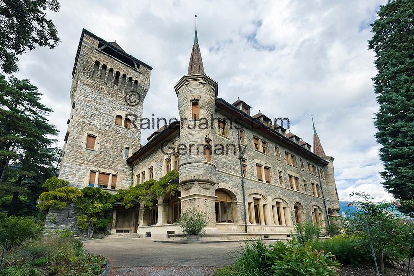 Switzerland, Canton Valais, Sierre: Château Mercier | Schweiz, Kanton Wallis, Sierre (Siders): Château Mercier