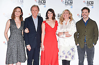 LONDON, UK. October 13, 2016: Rachel Sterling, Bill Nighy, Gemma Arterton, Director Lone Scherfig &amp; Sam Claflin at the London Film Festival photocall for &quot;Their Finest&quot; at the Mayfair Hotel, London.<br /> Picture: Steve Vas/Featureflash/SilverHub 0208 004 5359/ 07711 972644 Editors@silverhubmedia.com