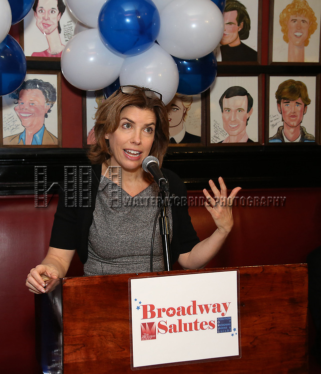 Julie Menin attends The Broadway League and the Coalition of Broadway Unions and Guilds (COBUG) presents the 9th Annual Broadway Salutes at Sardi's on November , 2017 in New York City.