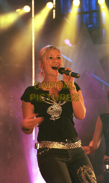HEARSAY - HEAR'SAY.MTV's Five Night Stand, at Ocean, London E3..popstars, suzanne, playboy top, sleeveless, half length, half-length.www.capitalpictures.com.sales@capitalpictures.com.©Capital Pictures