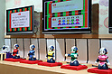 "April 30, 2016, Chiba, Japan - Japan's telecommunication giant NTT displays robot ogiriashow, humanoid robots Sota give unique coments to various topics during the Niconico Chokaigi in Chiba on Saturday, April 30, 2016. Some 150,000 visitors enjoyed over 100 booths including games, hobbies, sports, politics as well as Japan's sub cultures at the two-day offline meeting sponsored by Japan's video sharing website ""Niconico Douga"".  (Photo by Yoshio Tsunoda/AFLO) LWX -ytd-"