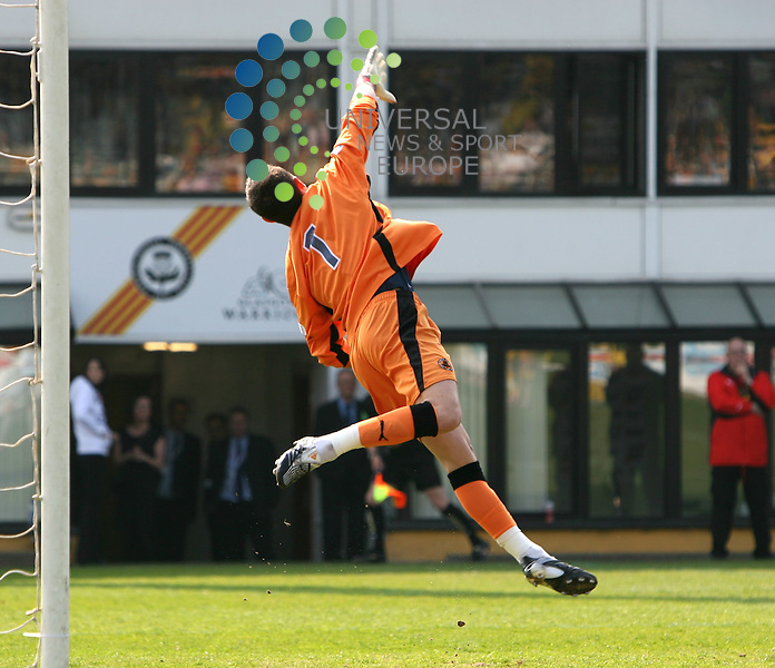 Partick Thistle v Livingston 25/04/09 @ Firhill, Irn Bru SFL First Division..jONNY tUFFEY TIPS THIS FREE KICK OVER THE BAR_Picture by Ricky Rae/ Universal News & Sport (Scotland).