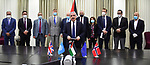 Palestinian Prime Minister Mohammed Ishtayeh, signs two energy and information technology agreements with $ 73 million in donors, in the West Bank city of Ramallah on June 30, 2020. Photo by Prime Minister Office