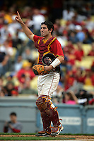February 28 2010: Keith Castillo of USC during game against UCLA at Dodger Stadium in Los Angeles,CA.  Photo by Larry Goren/Four Seam Images