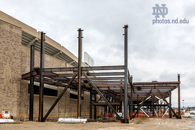 Dec. 16, 2015; Campus Crossroads south building construction. (Photo by Matt Cashore/University of Notre Dame)