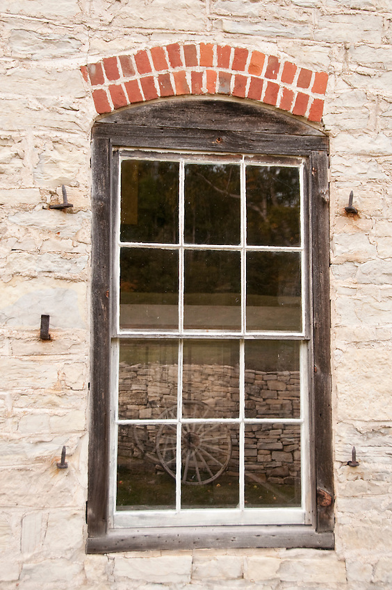Building details at Fayette State Historical Park near Garden Michigan.