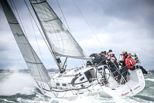 Simon Knowles Indian (Howth YC) is the only J/109 entered in the Fastnet 450